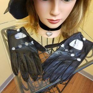Vintage Accessories - Vintage imported Capeskin motorcycle finger gloves